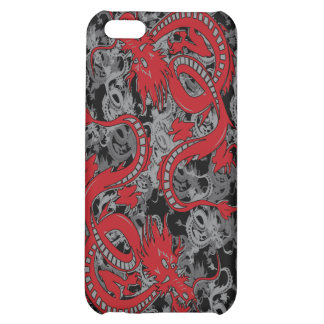 Ying Yang Dragon oin Red - Chinese New Year Cover For iPhone 5C