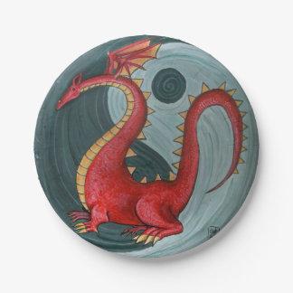 Ying-Yang Dragon Paper Plates