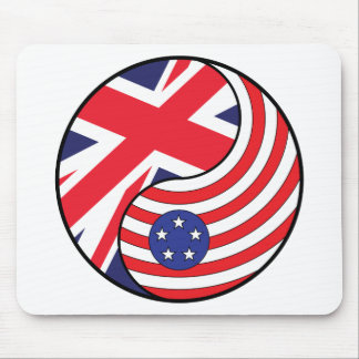 Ying Yang England America Mouse Pad