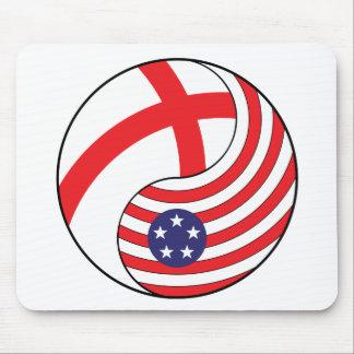 Ying Yang England America Mousepad