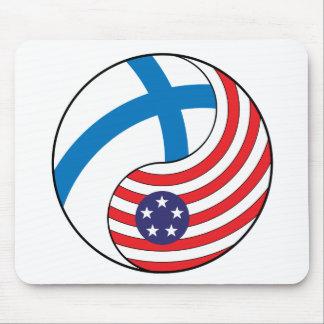 Ying Yang Finland America Mousepad
