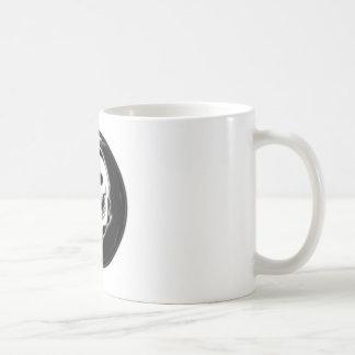 Ying Yang Grim Reaper Basic White Mug