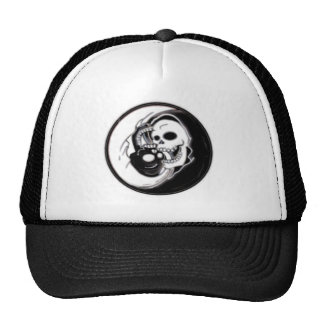 Ying Yang Grim Reaper Trucker Hats