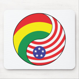 Ying Yang Guinea America Mouse Pad