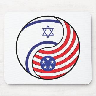 Ying Yang Israel America Mousepad