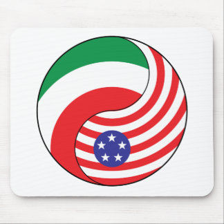 Ying Yang Italy America Mouse Pads