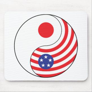 Ying Yang Japan America Mousepads