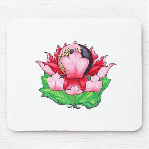 Ying Yang Lotus Mousepad