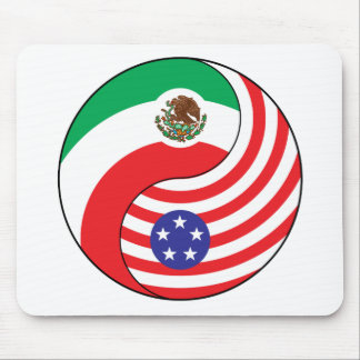Ying Yang Mexico America Mouse Pad