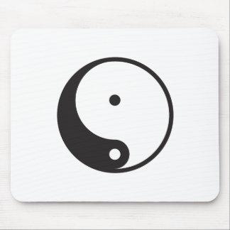 Ying Yang Moose Pad Mouse Pad