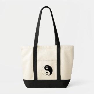 Ying Yang Paw Print Impulse Tote Bag