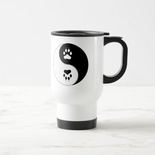 Ying Yang Paw Print Mug