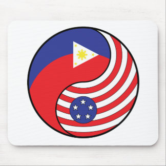 Ying Yang Philippines America Mouse Pad