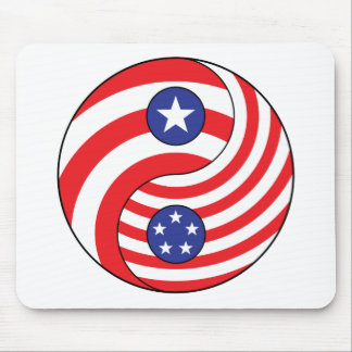 Ying Yang Puerto Rico America Mousepads