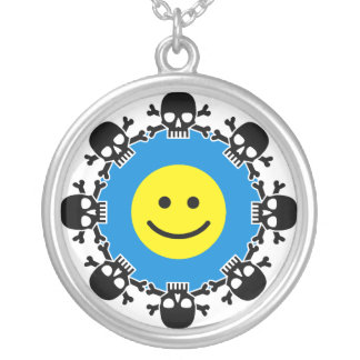 Ying Yang Revisited Round Pendant Necklace