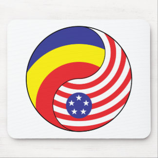 Ying Yang Romania America Mousepad