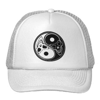 ying yang skull vector cap