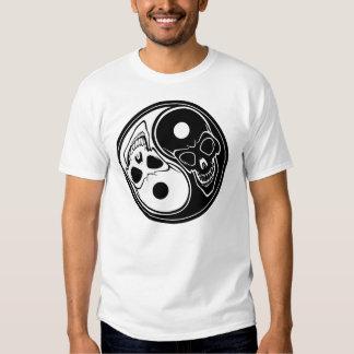 Ying yang skulls t shirt