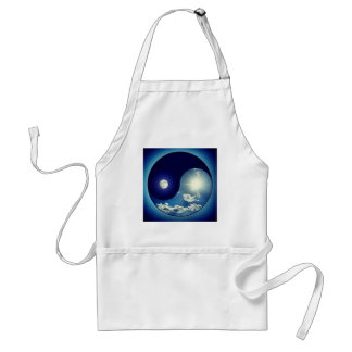 Ying Yang Sky Day Night Standard Apron