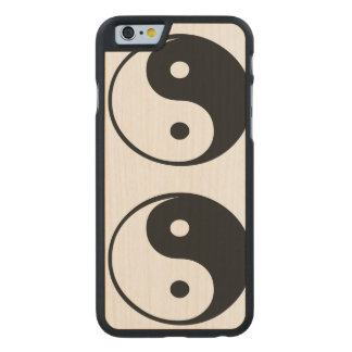 Ying yang,tao,chinese art of energy,feng shui carved® maple iPhone 6 case