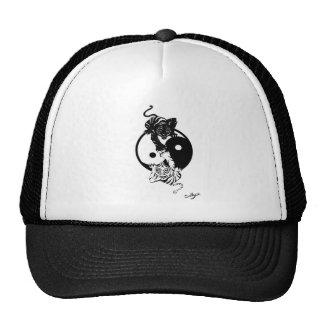 Ying yang tiger mesh hats