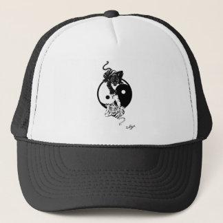 Ying yang tiger trucker hat