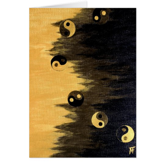 Ying-Yang-Yogi Greeting Card