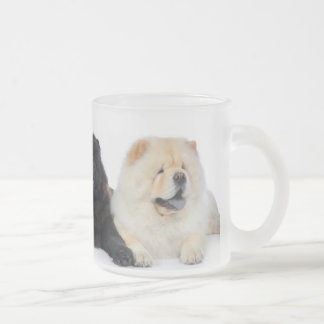 YingYang Chows Frosted Glass Mug