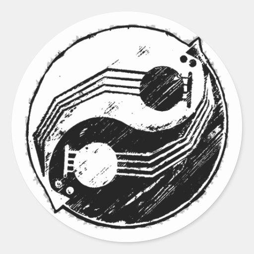 Yinjo Round Stickers