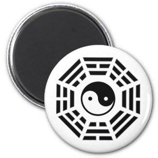 yinyang 6 cm round magnet