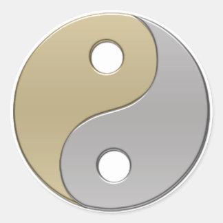 yinyang classic round sticker