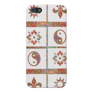 YinYang, Fleur de Lys - 4 Artistic Base Pallets Case For iPhone 5/5S