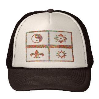 YinYang, Fleur de Lys - 4 Artistic Base Pallets Hat