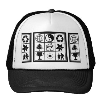 YinYang Happy World Couple Home Focus Award Yang Trucker Hats