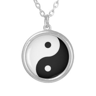 YinYang Silver Plated Necklace