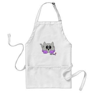 Yip Wolf the Cute Wolf Pudgie Pet by Melody Standard Apron
