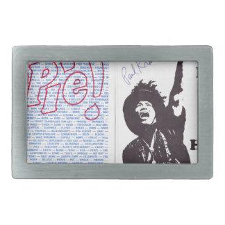 yippie! - chicago aug 1968 flyer rectangular belt buckle