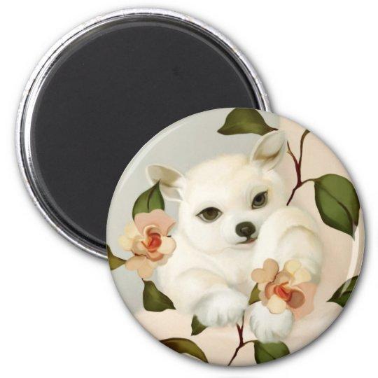YIp's puppy 6 Cm Round Magnet
