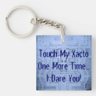 Ykyaasw Xacto Funny Architecture Student Blueprint Key Ring