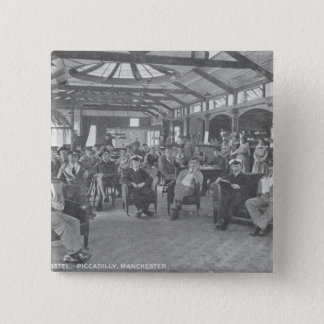 YMCA Hostel, Piccadilly, Manchester, c.1910 15 Cm Square Badge