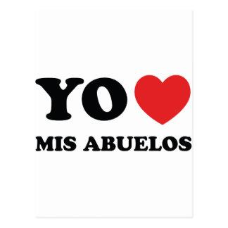 Yo Amo Mis Abuelos Postcard