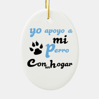 Yo apoyo a mi Perro Christmas Ornament
