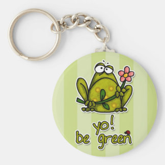 yo! be green key ring