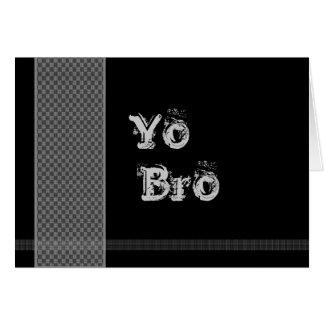 YO BRO Be My Best Man - Black and Silver Checks Card