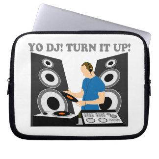 Yo DJ, Turn It Up Laptop Computer Sleeve