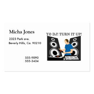 Yo DJ, Turn It Up Pack Of Standard Business Cards