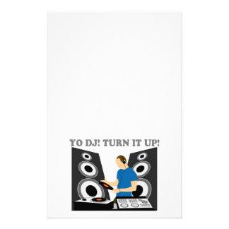 Yo DJ, Turn It Up Personalized Stationery