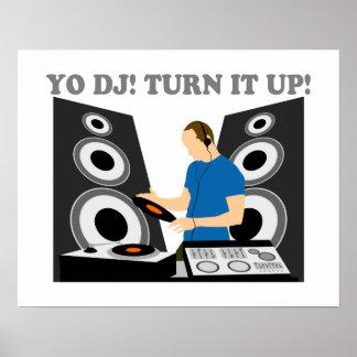 Yo DJ, Turn It Up Poster