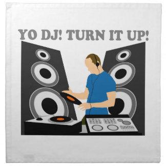 Yo DJ, Turn It Up Printed Napkin