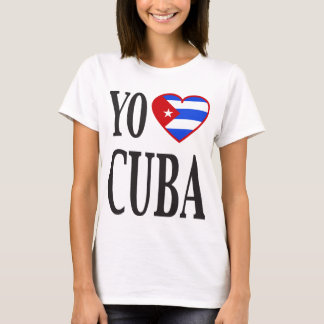 Yo Heart Cuba (I Love Cuba) with Cuban Flag Heart T-Shirt